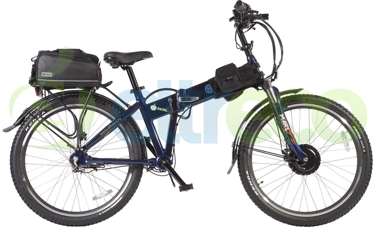 Велогибрид (электровелосипед) Eltreco Patrol Cardan 28 Lux