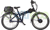 Велогибрид (электровелосипед) Eltreco Patrol Cardan 28 Lux Blue
