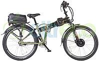 Велогибрид (электровелосипед) Eltreco Patrol Cardan 28 Lux Камуфляж