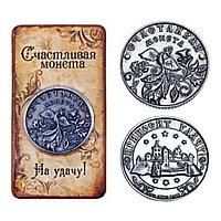 Счастливая монета с Фениксом и стразами., фото 1