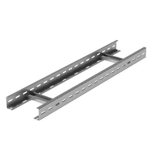 Вертикальный лестничный лоток для средних нагрузок 500х50х3000 (горячий цинк)