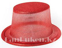 Шляпа карнавальная блестящая (красная)