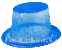 Шляпа карнавальная блестящая (синяя)