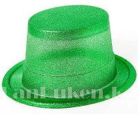 Шляпа карнавальная блестящая (зеленая)
