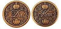 Монета сувенирная штампованная Да Нет с короной Геленджик