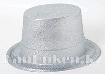 Шляпа карнавальная блестящая (серая)
