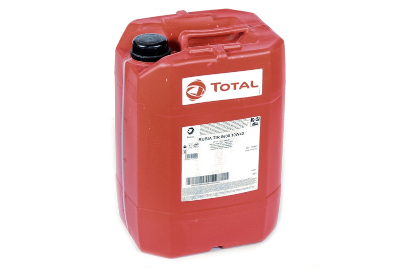 Total RUBIA TIR 8600 10W-40 синтетическое дизельное масло 20л.