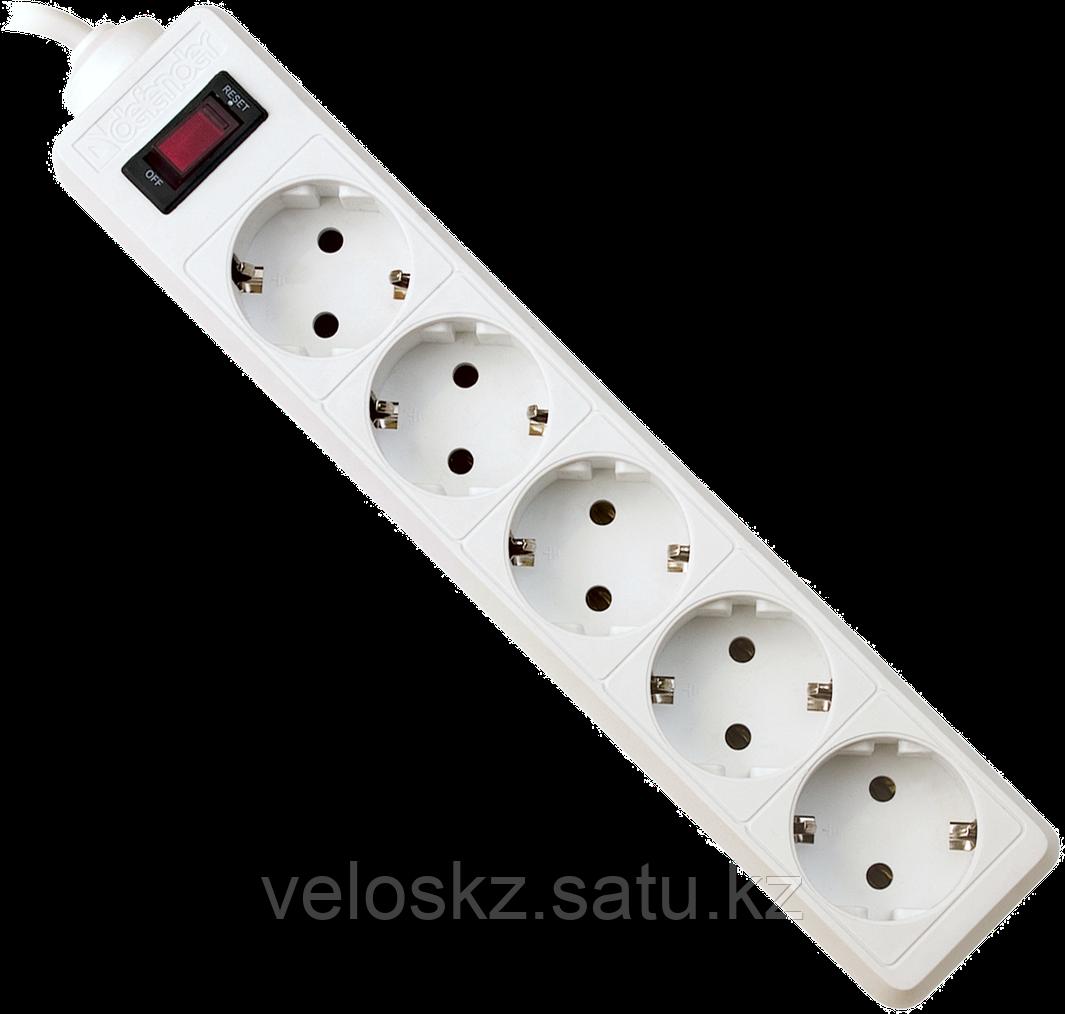 Сетевой фильтр Defender ES 5, 5м, 5 розеток, белый