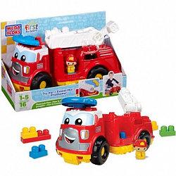 """Mega Bloks 08428 """"First Builders - Мой первый конструктор"""" Пожарная машина Финн (16 деталей)"""
