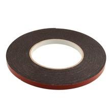 Скотч двухсторонний вспененный красно-черный  10 мм