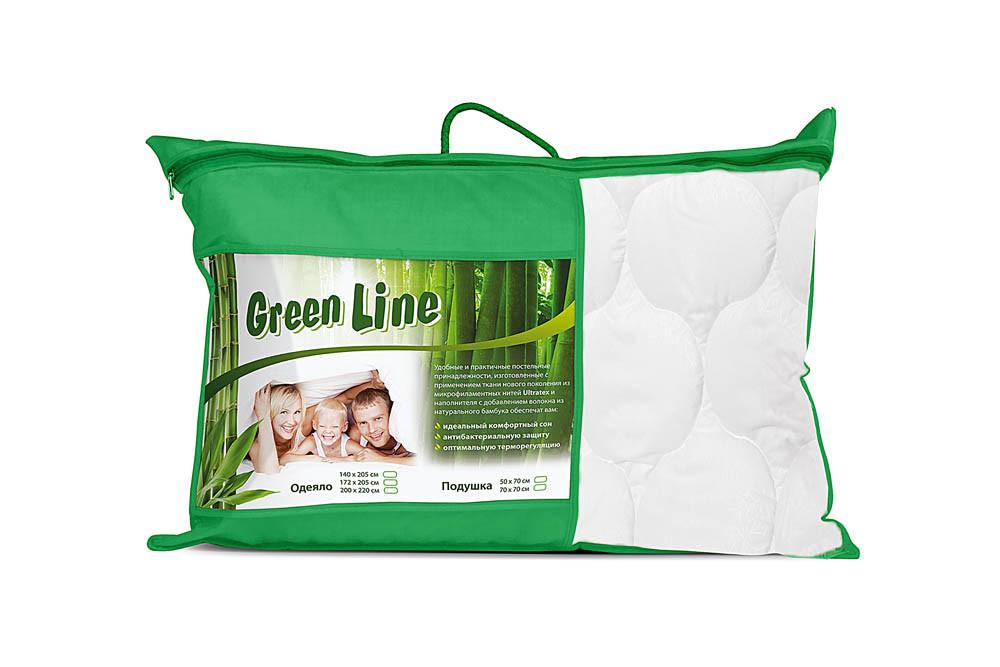 "Подушка ""Green Line"", бамбук 70х70"