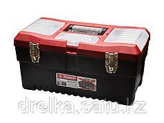 Ящик для инструментов ЗУБР 38324_z01, МАСТЕР, пластмассовый, 48,2 x 27,9 x 25,4 см, 19 дюймов