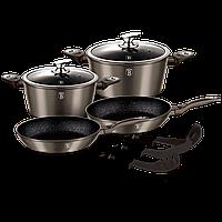 Набор посуды с мраморным покрытием Berlinger Haus Carbon Metallic Line (9предметов)