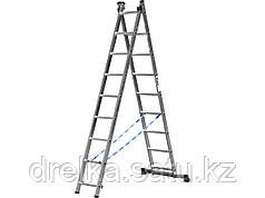 Лестница стремянка СИБИН, универсальная, двухсекционная