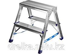 Лестница стремянка СИБИН, двухсторонняя алюминиевая