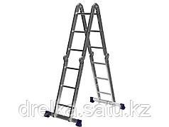 Лестница стремянка - трансформер СИБИН, алюминиевая