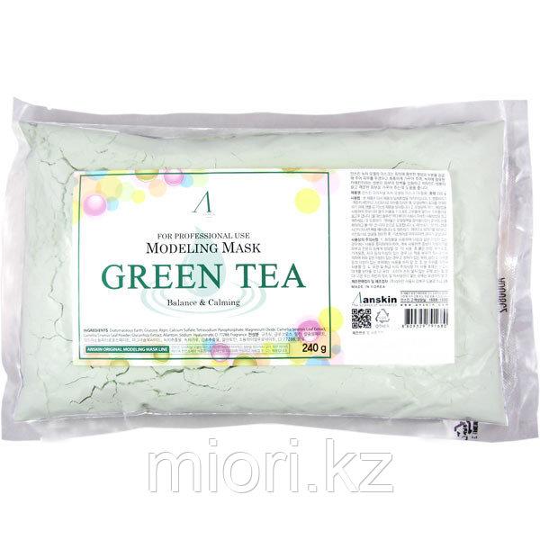 Альгинатная антиоксидантная успокаивающая маска с зеленым чаем ANSKIN Modeling Mask Green Tea,240гр