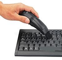 USB - пылесос для клавиатуры FD368, пит - USB(500mA), 2 насадки, светодиод, пластик, черн, каб-0.95м, фото 1