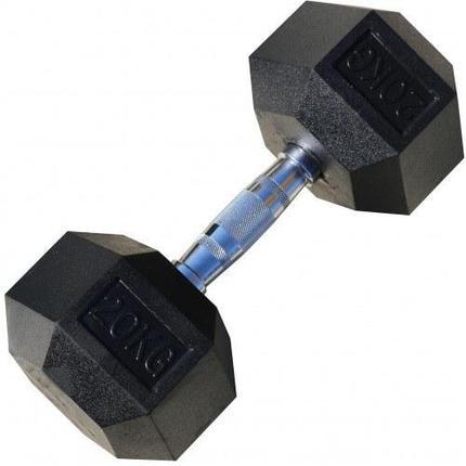 Гантели гексагональные по 20+20 кг, фото 2