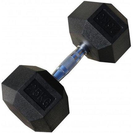 Гантели гексагональные по 25+25 кг, фото 2