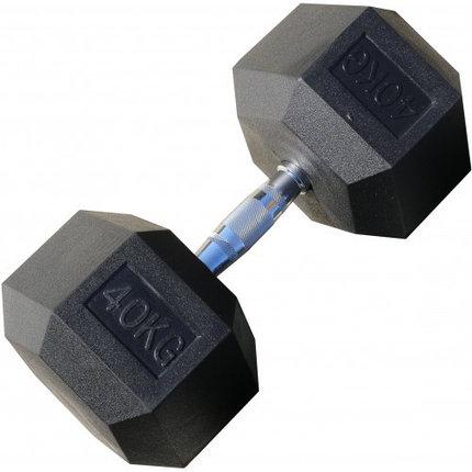 Гантели гексагональные пара 40+40 кг, фото 2