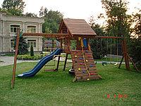 Деревянный детский городок -Blue Wave