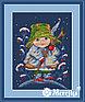 """Набор для вышивания крестом """"Рождественский колокольчик"""", фото 3"""