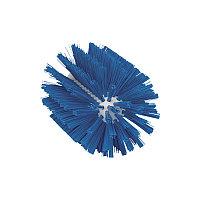 Щетка-ерш для очистки труб, гибкая ручка, Ø103 мм, средний ворс, синий цвет