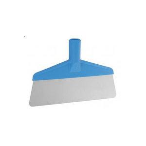Скребок с рабочей пластиной из нержавейки, 260 мм, синий цвет