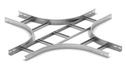 Крестообразный разветвитель для лестничного лотка НЛОгц 400х50х3000 (горячий цинк)