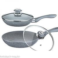 Сковорода алюминевая c гранитным покрытием + крышка 28 см Peterhof PH-15435-28