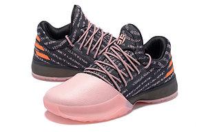 Баскетбольные кроссовки Adidas Harden Vol.1 from James Harden черно-розовые