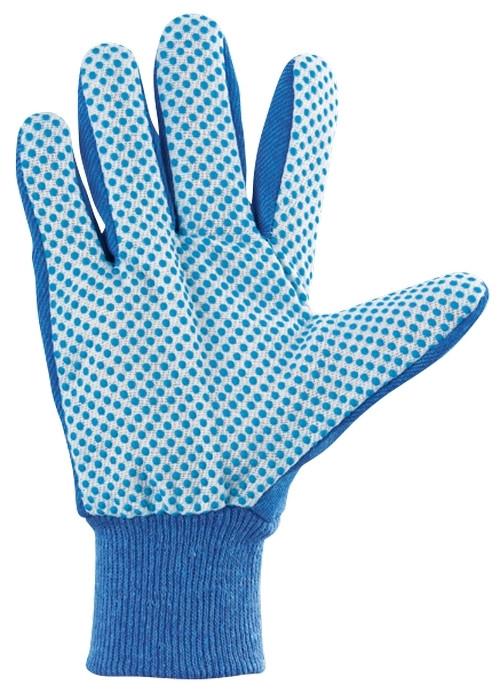(67764) Перчатки рабочие х/б ткань с ПВХ точкой, манжет, XL //СИБРТЕХ