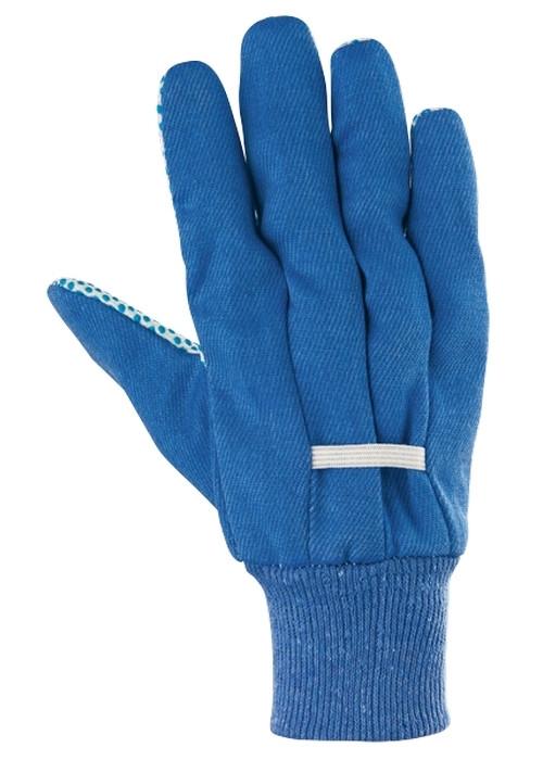 (67766) Перчатки рабочие х/б ткань с ПВХ точкой, манжет, XXL //СИБРТЕХ