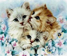 "Картины по номерам ""Три котенка"""