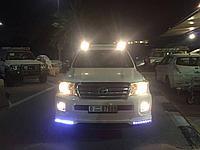 Рейлинги с фонарями для Toyota Land Cruiser LC200 2008-2017