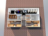 Мобильное здание на 8 человек с инфрастуктурой, возможностью дальнейшего расширения