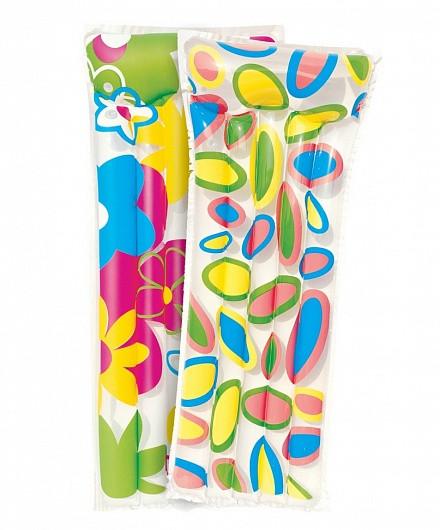 44021 BW Надувной матрас для плавания Цветы, 2 вида в асс., 183х76 см