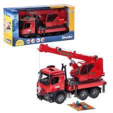 Брудер пожарный автокран Bruder Автокран MB Arocs с модулем со световыми и звуковыми эффектами, красный