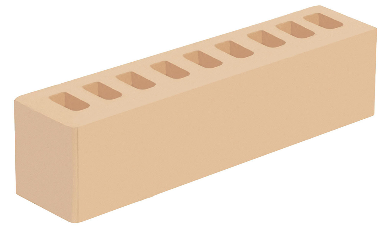 Кирпич слоновая кость половинка ИК-2