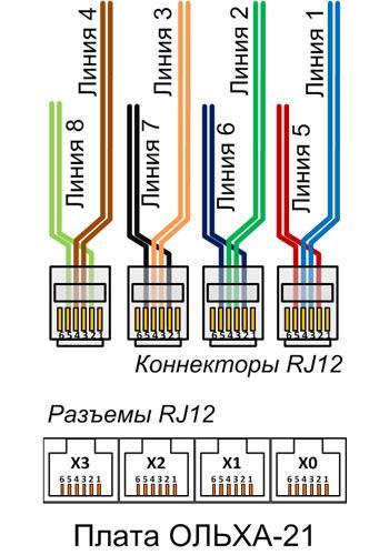 схема подключения платы ольха-21