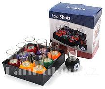 Настольная алкогольная игра Poolshots (Пьяный бильярд) 9 рюмок