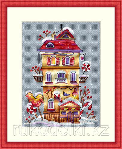 """Набор для вышивания крестом """"Зимний домик"""""""
