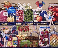 """Набор для вышивания крестом """"Сокровища кладовой"""", фото 1"""