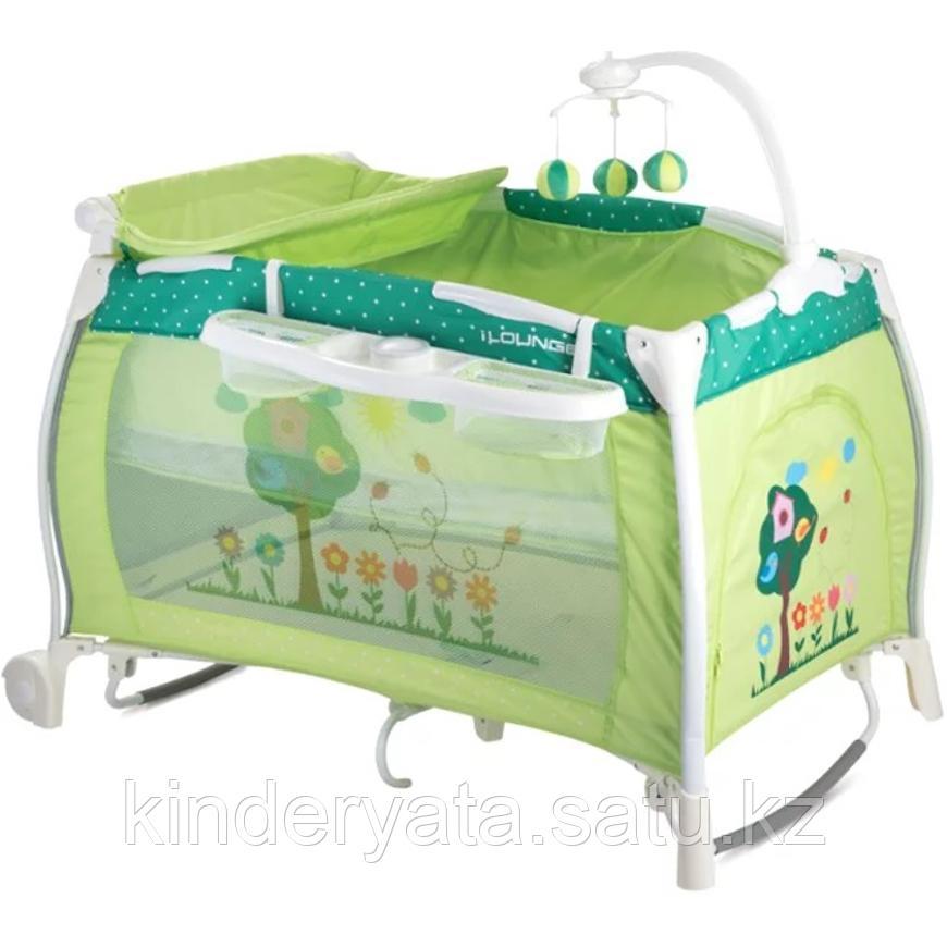 Детская кровать-манеж Bertoni I`Lounge 2 Rocker зеленый