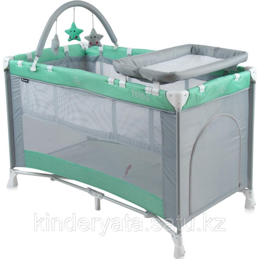 Кровать-манеж Bertoni Penny 2 Plus зелено-серый