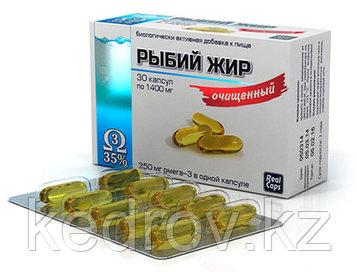 Рыбий жир очищенный, 30 капсул * 1,4 гр