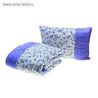 Комплект (одеяло, подушка) «Миродель», размер 145х205 см ( ± 5 см), 50х70 см, цвета МИКС, холлофан, п/э, чехол