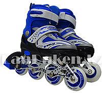 Ролики раздвижные с прошивкой (коньки роликовые) синие