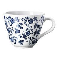 Кружка ЭМНТ белый  темно-синий ИКЕА IKEA, фото 1